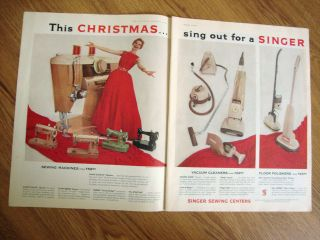 1960 singer sewing machine ad shows 5 models time left