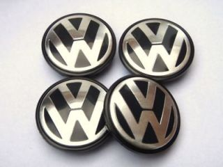 65mm VW VOLKSWAGEN ALLOY WHEEL CENTRE CAPS GOLF PASSAT TOURAN JETTA