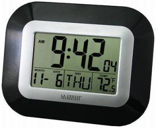newly listed la crosse tech digital atomic wall clock w