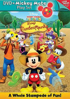 Mickey Mouse Clubhouse Mickeys Numbers Roundup DVD, 2010, With Mickey