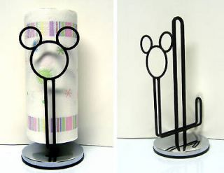 mickey mouse icon paper towel holder for kitchen or bath