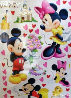 LARGE MICKEY & MINNIE MOUSE /Childrens Bedroom/Nurser​y/Home/Wall
