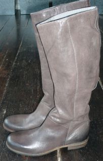 VIC VIC MATIE FLAT GREY/BROWN/MOLE RIDING STYLE BOOTS 37.5/38 RP£