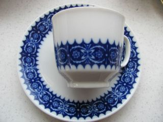 Winterling blue white Echt Kobalt Bavaria cup and saucer set