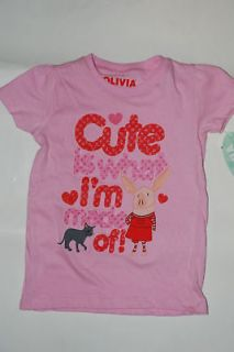 New OLIVIA the pig Nick jr. top Shirt Size 4 4t Cute is what Im made