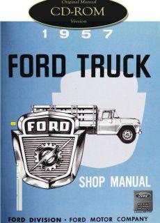 1957 Ford Truck F 100 F 250 F 350 P 350 B 600 Bus Factory Shop Service