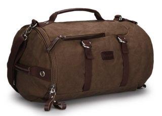 Quality Elegance Brown Mens Vintage Canvas Backpack Traveling Bag
