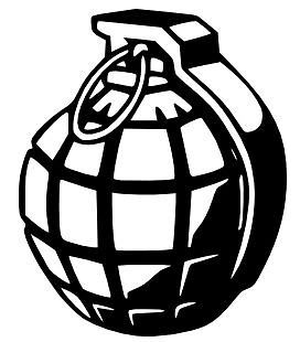Hand Grenade Vinyl Wall Art Sticker Style Design British Mills WW2