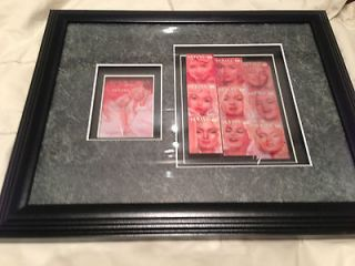 MARILYN MONROE Framed Picture Stamps Collectible Rare Memorabila Art