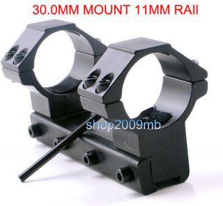 30.0MM MOUNT 11MM RAIL Double Scope/Sight Ring Mount+4 Screws