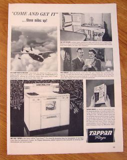 1943 automatic gas range by tappan ad time left $