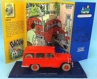 TINTIN CAR ATLAS N° 57 Willys Overland jeep Station Wagon 1950 Hergé