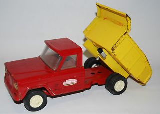 vintage tonka jeep red dump truck 1960s mound minnesota time