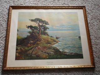 Vintage ROBERT WOOD Framed Print PACIFIC COAST International Art