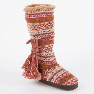 muk luks helga swiss fairisle slipper boot more options option