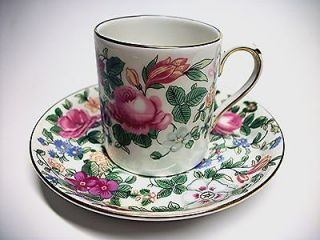 ENGLISH FINE BONE CHINA, CUP & SAUCER W/ FLOWER DESIGN   PRETTY