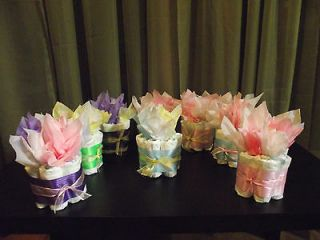 PICK A COLOR Mini Diaper Cake 1tier Baby Girl/Boy/Natural Shower Gift