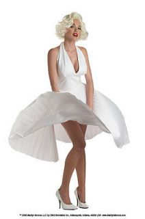 Classic MARILYN MONROE Pleated white Costume Dress S M L XL