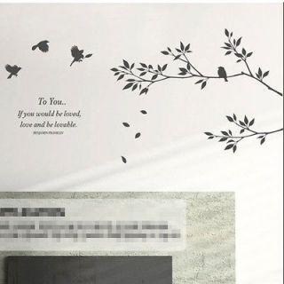 Flying Bird Tree Decor Mural Art Wall Sticker Decal Y307 (various
