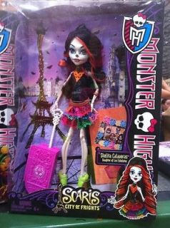 NEW MONSTER HIGH DOLL SCARIS CITY OF FRIGHTS SKELITA CALAVERAS MINT