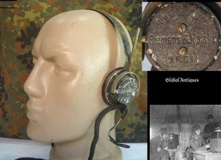 wwii original german radio headphones siemens drgm from bulgaria time