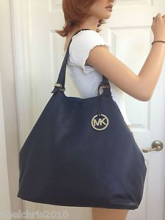 Michael Kors Extra Large Grab Bag Leather NAVY Colgate Handbag Purse