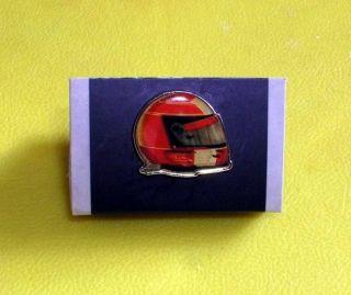 F1 Michael Schumacher Ferrari Mercedes GP HELMET PIN BADGE NEW RARE