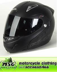 Nitro F347 VN Front Flip Motorcycle Helmet Satin Matt Black XS