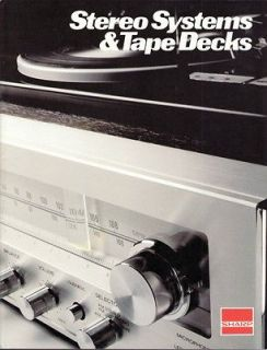 Original Sharp Stereo Systems & Tape Decks Sales Brochure.