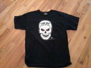 wwe stone cold steve austin skull t shirt wrestling size l