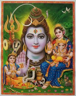 Lord Shiva, Devi Parvati, Ganesh, Kartik   POSTER   9x11 (#424)