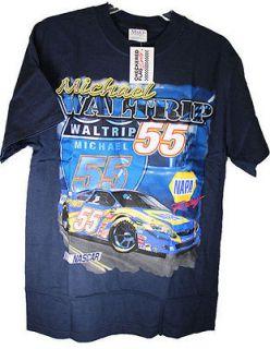 Michael Waltrip NASCAR T Shirt Medium Blue NAPA AUTO PARTS