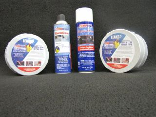 Eternabond Roof Repair Kit 2 Rolls 4x50 White Tape with Cleaner and