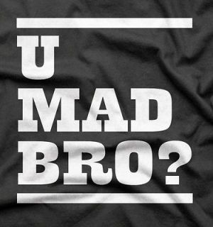 funny novelty party cool u mad bro cotton t shirt xl black