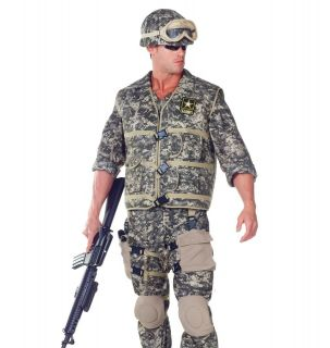 Adult Mens Deluxe US Army Ranger Soldier Halloween Costume ADULT ONE