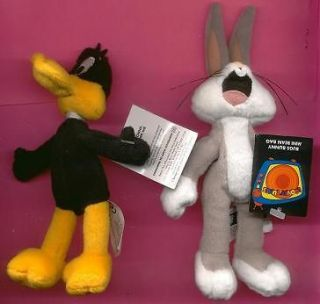 Daffy Duck Bugs Bunny mini beanbag dolls Looney Tunes Warner new with