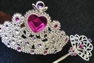 Queen Princess Crown Tiara & Scepter Wand Cake Topper Girl Dress Up
