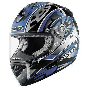 Shark RSR2 RSR 2 Muggeridge Blue Black Motorcycle Helmet XLarge XL