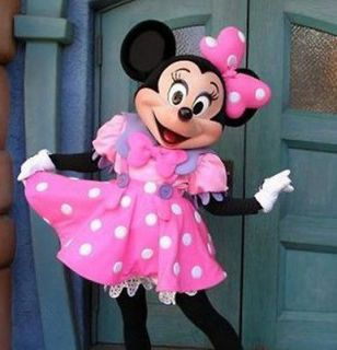 Great Promotion Pink Minnie Mouse Mascot Costume Adult Fancy Dress