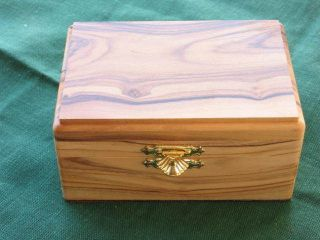 Olivewood Jewelry Keepsake Box Israel Large Holy Land Bethlehem Gift