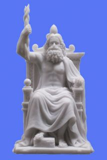 GREEK GOD ZEUS STATUE 12 Roman Jupiter Mythology Supreme Deity