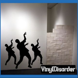 zombies dance kc01 vinyl decal car or wall sticker mural