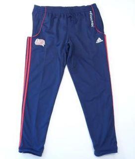 Adidas ClimaCool MLS New England Revolution Navy Blue Track Pants Mens