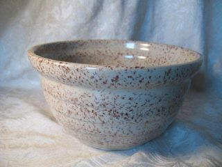 Vintage Western Stoneware Monmouth USA Speckled Mixing Batter Bowl