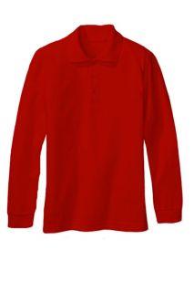 Genuine School Uniform Boys / Girls (4 20) Long Sleeve Pique Shirt