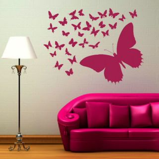 LOVELY BUTTERFLY BUTTERFLIES WALL STICKER DECAL giant tattoo picture