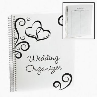 Spiral Bound Wedding Organizer Event Calendar Planning Checklist