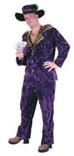 Big Daddy Pimp Purple Velvet Suit Gangster Adult Mens Costume