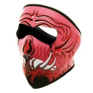 in 1 Reversible Motorcycle Biker, Ski Mobile Neoprene Face Mask