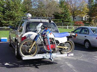 motorcycle carrier rack ramp trailer hitch hauler